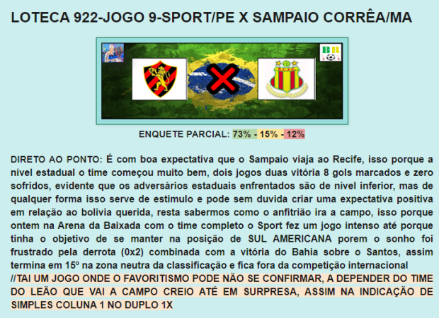 922 ANALISE LOTEQUEIROS
