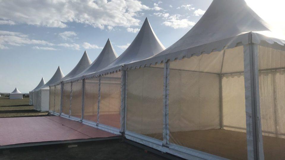 Espace partenaires avec terrasse en 5m x 5m pour Cervolix à Issoire