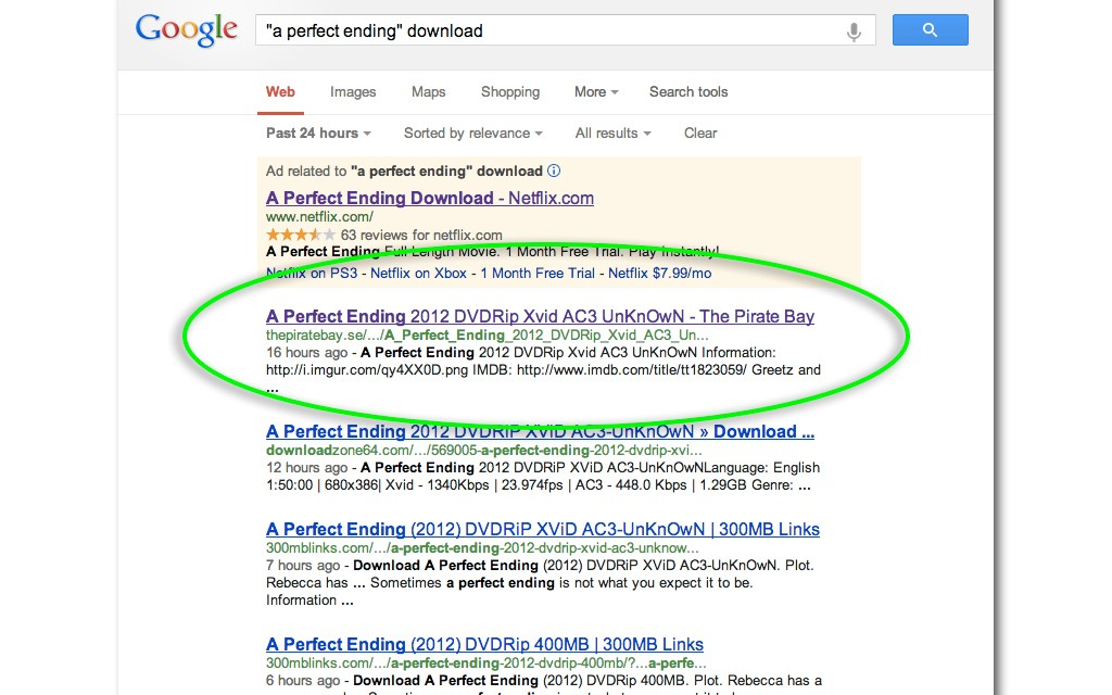 The RIAA is Right, Piracy Results Remain Top Dog on Google