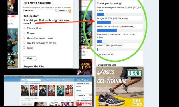 Pirate Website's Own Poll Shows Nearly 30% Used Google to Find Their Way to Pirated Movies Online
