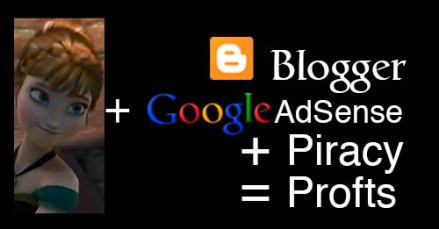 Google blogger piracy profit