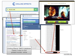 EFF's Chilling Effects database provides easy search to find pirated movies online