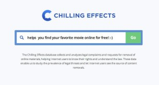Chilling Effects provides search engine for pirate links