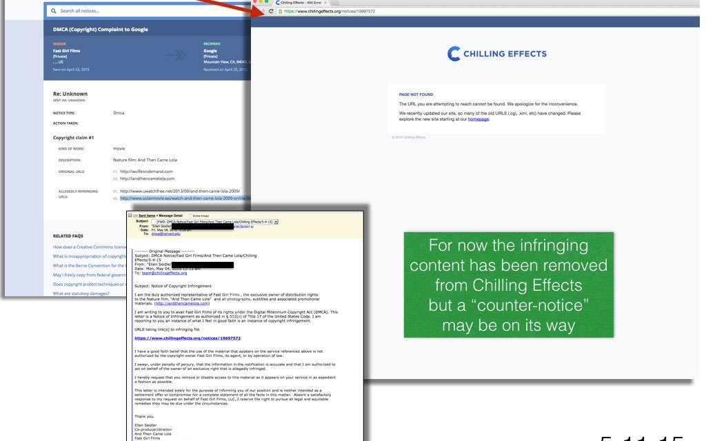 Chilling Effects sends me a DMCA counter-notice
