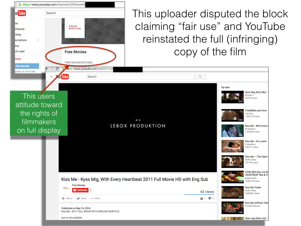 YouTube pirate claims fair use