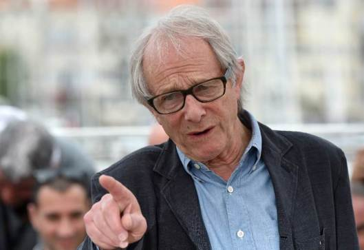 "British director Ken Loach talks during during a photocall on May 13, 2016 for the film ""I, Daniel Blake"" at the 69th Cannes Film Festival in Cannes, southern France."