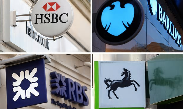 HSBC, Barclays, Lloyds and RBS dominate the banking sector, controlling 77% of current accounts [Image: PA Wire].