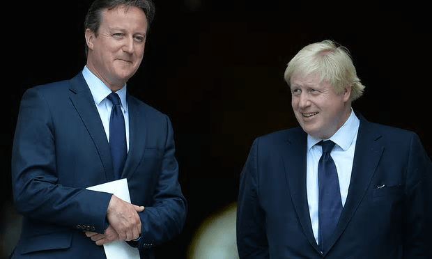 Cameron expressed disappointment at Johnson's decision to throw his weight behind the leave campaign [Image: John Stillwell/PA].