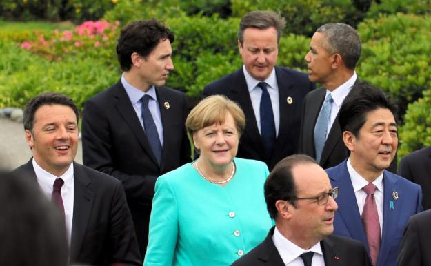 The G7 leaders from Italy, Canada, Germany, Britain, France, the United States, and Japan [Image: Getty Images].
