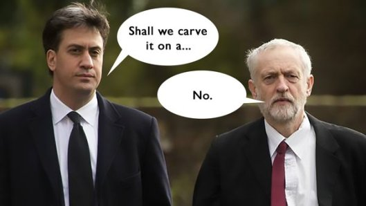 Ed Miliband joined in the calls for Corbyn to resign this week. Private Eye has already pointed out that some of his ideas aren't worth the bother. [Image: Hat Trick Productions.]