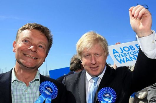 Craig Mackinlay (left) campaigning with Boris Johnson ahead of the election [Image: PA].