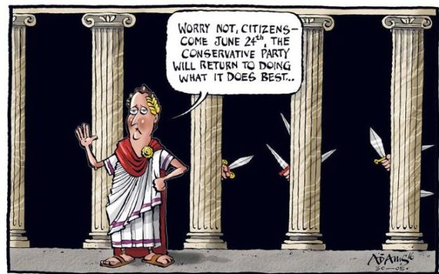 Conservatives doing what they do best, indeed [Image: Adams for The Telegraph].