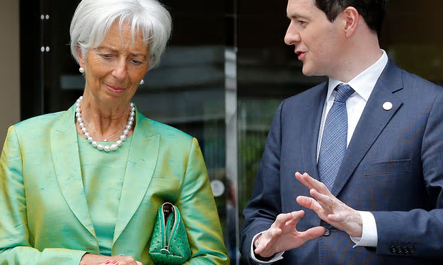 IMF managing director Christine Lagarde with George Osborne. 'Since 2008, a big gap has opened up between what the IMF thinks and what it does' [Image: Kimimasa Mayama/EPA].
