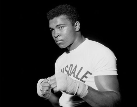 Muhammad Ali: The greatest boxer of them all - and a great example to everybody.