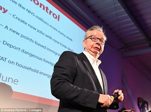 Michael Gove has apparently 'never really been into immigration' [Image: Andrew Parsons/i-Images].
