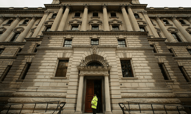 The Treasury in London. Philippa Stroud believes both income and other factors such as family breakdown should be included in the new metrics [Image: Peter Macdiarmid/Getty Images].
