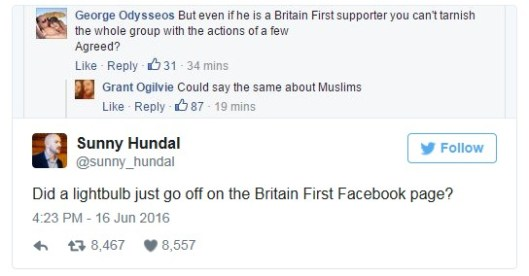 160617 Britain First tweet