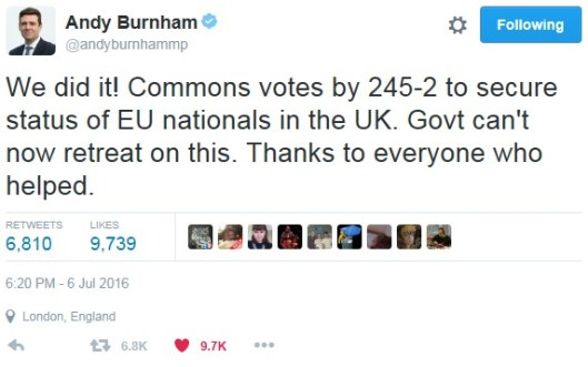 160706 Burnham vote
