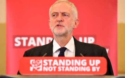 Still standing up and not standing by: Jeremy Corbyn, leader of the Labour Party.