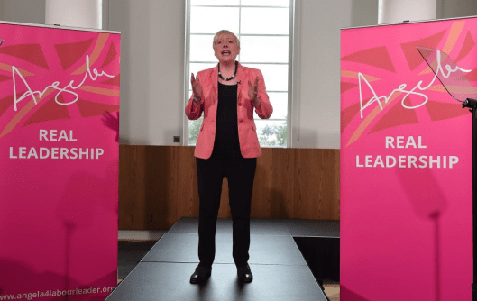 Cosmetic: Angela Eagle's campaign launch was compared with attempts to sell cosmetic products on TV channels like QVC. Media representatives left the meeting, leaving an awkward silence when Ms Eagle called for questions.