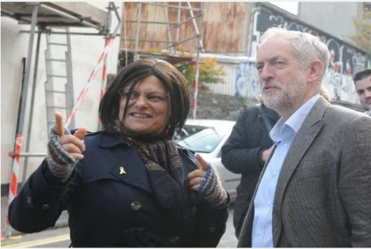 Thangam Debbonaire and Jeremy Corbyn [Image from the Bristol Post].