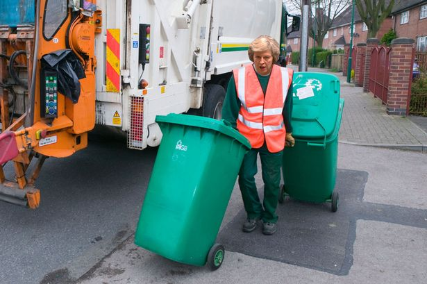 Bin woman: New prime minister Theresa May [Image: Daily Mirror].