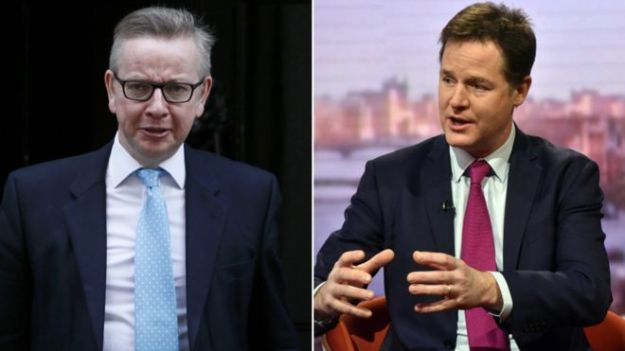 Michael Gove and Nick Clegg [Composite: Reuters/BBC].