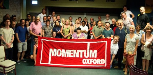 Spot the difference: Momentum supporters...