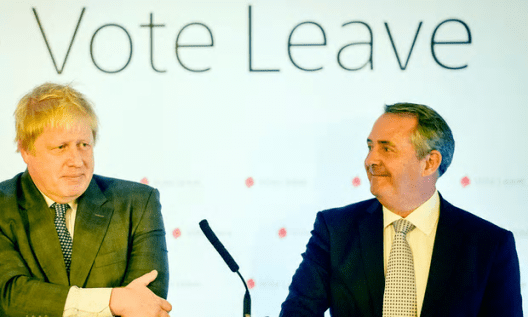 Liam Fox, right, called for departmental changes in a letter to Boris Johnson and Theresa May [Image: Ben Birchall/PA].