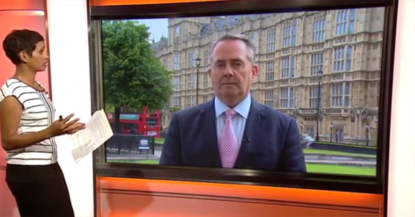 Liam Fox (he's the one on the screen).