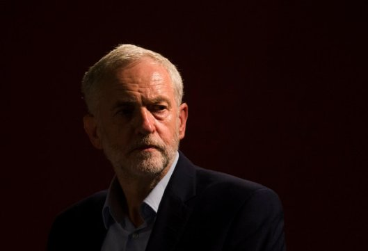Jeremy Corbyn. This shot was taken at a Labour leadership hustings in Gateshead, where he was briefly plunged into darkness when the lights failed.