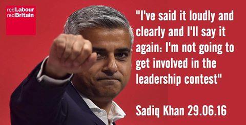 160822 Sadiq Khan not getting involved