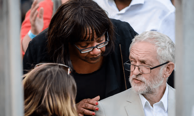 Jeremy Corbyn and shadow health secretary Diane Abbott before a Labour leadership hustings this month [Image: Ben Birchall/PA].