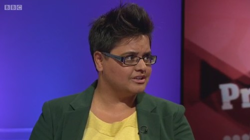 Kerry-Anne Mendoza, editor of The Canary, proving there's nothing 'loony' about the Left on Newsnight yesterday (August 22, 2016).
