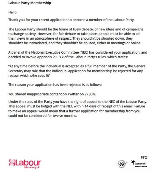 160825 Labour purge letter