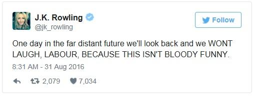 160831 JK Rowling not funny