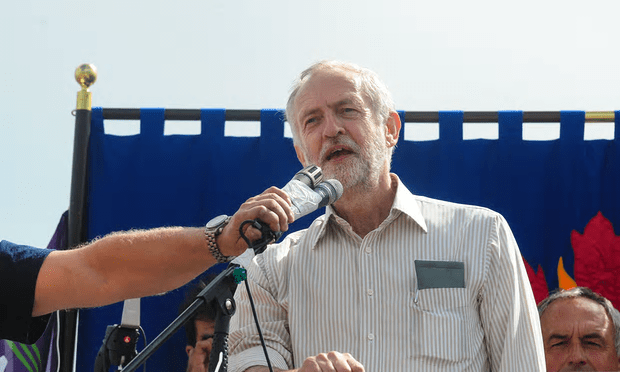 Jeremy Corbyn speaks at a Momentum rally in Ramsgate [Image: Graham Mitchell/ Barcroft Images].