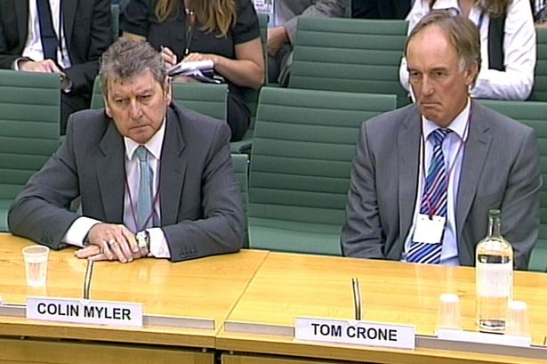 Editor Colin Myler (left) and legal chief Tom Crone (right) misled MPs, a report found [Image: PA Archive/Press Association Images].