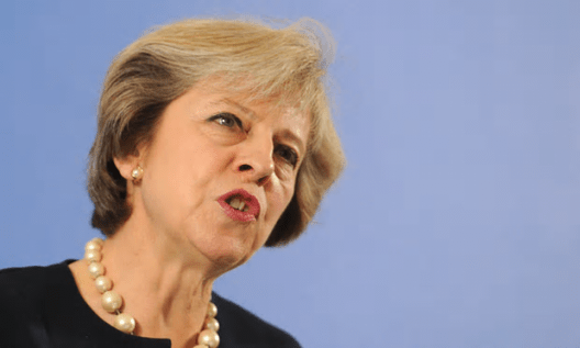 Theresa May's intervention at the UN comes as she faces criticism at home for failing to do enough to help refugees [Image: Nick Ansell/AFP/Getty Images].