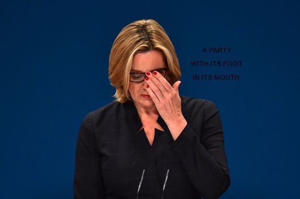 Amber Rudd made the attack in her speech to the Tory party conference [Image: Carl Court/Getty Images].