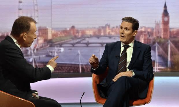 Andrew Marr interviews Sir Keir Starmer [Image: BBC].