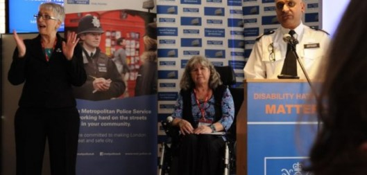 The launch of the Metropolitan Police's Disability Hate Crime Matters initiative.