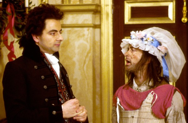 Angela Eagle (right) with her manager in the recent Labour leadership campaign? No, it's Mr Blackadder - who shares her opinion that there is no need for a personality in politics - and his dogsbody Baldrick.