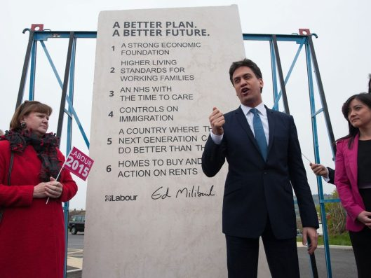 Ed Miliband has Labour's six election pledges inscribed in stone - then Iain McNicol failed to list it as an election expense.