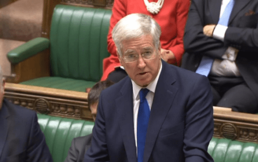 Michael Fallon in the House of Commons [Image: PA Wire/PA Images].