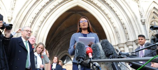 Gina Miller spoke outside the high court after the ruling [Image: PA Images].