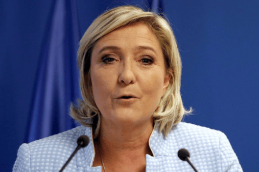 Outrage: Anger erupted at the decision to air an interview with National Front leader Marine Le Pen on the Andrew Marr Show on Remembrance Sunday [Image: Reuters/Charles Platiau].