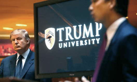 Former students who filed the suit said they were lured by false promises to pay up to $35,000 to learn Donald Trump's real estate investing 'secrets' [Image: Bebeto Matthews/AP].