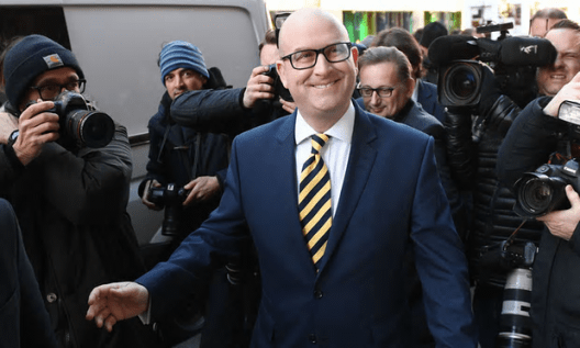 Paul Nuttall outside the Emmanuel Centre in London moments before he was announced as the new Ukip leader [Image: Stefan Rousseau/PA].