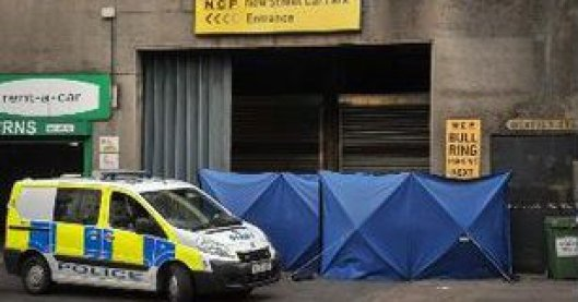 The scene of the death at Birmingham City Centre [Image: Birmingham Mail].